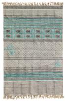 Karma Living Romantic Stonewashed Block Printed Cotton Rug
