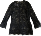 Monique Lhuillier Black Lace Top for Women