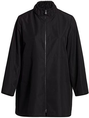 Cinzia Rocca, Plus Size Ruffle Zip Jacket