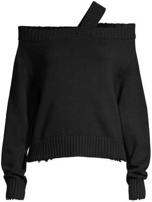 RtA Beckett Asymmetric One-Shoulder Sweater