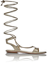 Miu Miu Women's Lace-Up Gladiator Sandals-GOLD