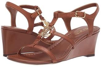 Lauren Ralph Lauren Elina (Deep Saddle Tan Super Soft Leather) Women's Shoes