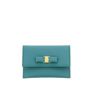 Salvatore Ferragamo Wallet Credit Card Holder With Vara Bow