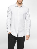 Calvin Klein Slim Fit Space Dyed Twill Shirt