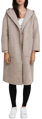 Belle & Bloom Walk This Way Wool Blend Beige Oversized Coat