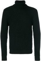 Eleventy honeycomb knit turtleneck sweater