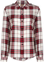 Burberry checked buttoned shirt