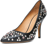Clemence Studded Heel in Black