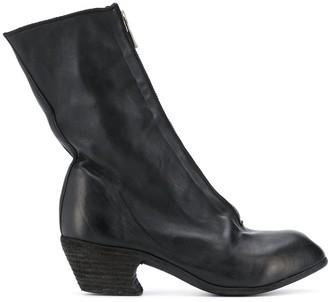Guidi Front-Zip Heel Boots