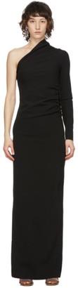 Supriya Lele Black Wool One-Shoulder Ruched Dress