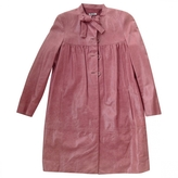 Miu Miu Pink Leather Coat