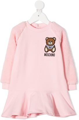 MOSCHINO BAMBINO Teddy Bear Peplum Dress