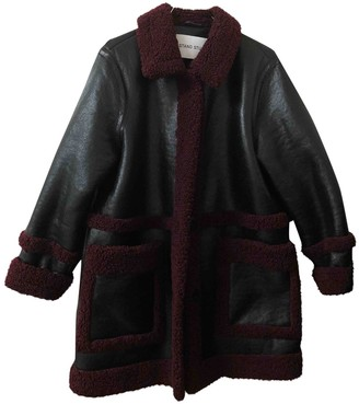 Stand Studio Black Faux fur Coats