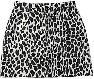 MSGM Beige Silk Skirt for Women
