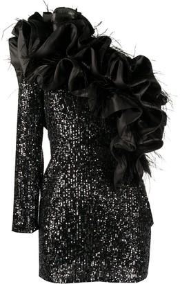 Loulou Ruffled-Detail One-Sleeve Dress