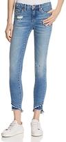 Blank NYC Blanknyc Staggered Step Hem Distressed Skinny Ankle Jeans in App Happy
