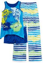 JCPenney Total Girl Ocean Tiger 3-pc. Sleep Set - Girls 4-16