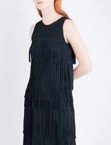 Pleats Please Issey Miyake Fringed pleated top