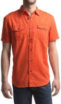 JKL Military Linen-Cotton Shirt - Short Sleeve (For Men)