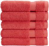 Christy Bamford Towel - Coral - Face Cloth