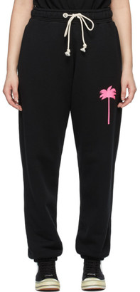 Palm Angels Black Printed Palm Tree Lounge Pants
