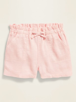 Old Navy Paperbag-Waist Pull-On Shorts for Baby