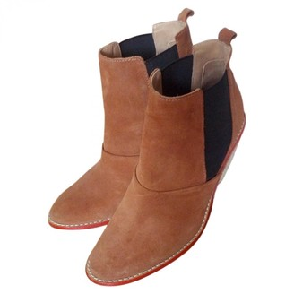Vanessa Bruno Camel Suede Ankle boots