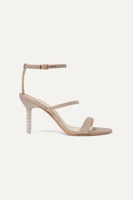 Sophia Webster Rosalind Crystal-embellished Glittered Leather Sandals - Gold