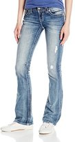 Miss Me Women's Paisley Print Back Yoke Boot Cut Denim Jean