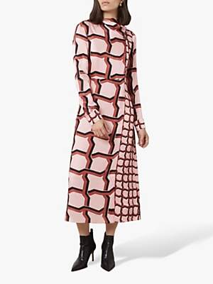 Finery Lyla Geo Print Dress, Pink