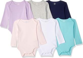 Amazon Essentials Baby Girls 6-Pack Long-Sleeve Bodysuit