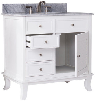 Southern Enterprises Tesino Bath Vanity Sink With Marble Counter Top