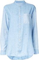 Closed mandarin neck denim shirt - women - Cotton/Lyocell/Linen/Flax - S