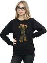 Star Wars Women's Chewbacca Christmas Lights Sweatshirt