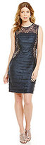 London Times Shimmer Lace Shutter Dress