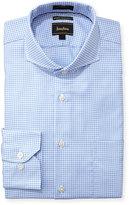 Neiman Marcus Luxury Tech Classic-Fit Houndstooth Dress Shirt, Light Blue