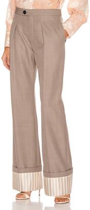 Chloé Tailored Pant in Sooty Khaki | FWRD