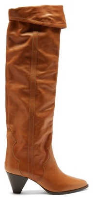 Isabel Marant Remko Leather Over-the-knee Boots - Tan