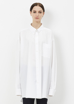 Maison Margiela white cotton popeline shirt