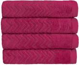 Christy Chevron Towel - Raspberry - Bath Sheet