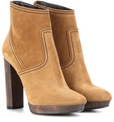 Burberry Hazelhurst Suede Ankle Boots