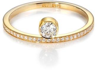 Sophie Bille Brahe Grand Rue De Soleil 18kt yellow gold diamond ring