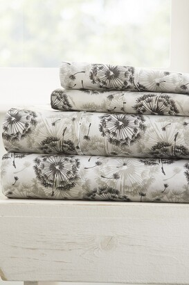 IENJOY HOME Home Spun Premium Ultra Soft Make a Wish Pattern 3-Piece Twin Bed Sheet Set - Gray