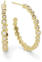 Ippolita Stardust Medium Hoop Earrings in 18K Gold with Diamonds