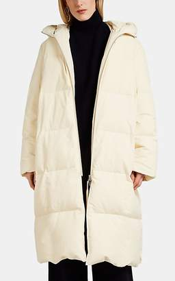 Jil Sander Women's Tech-Taffeta Long Puffer Jacket - Beige, Tan