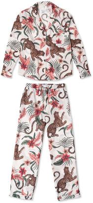Desmond & Dempsey Soleia Cotton Long Pajama Set