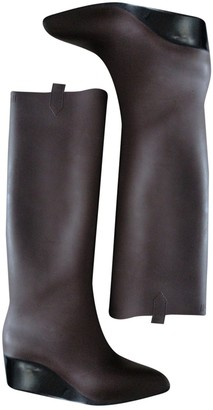 Kartell Brown Rubber Boots