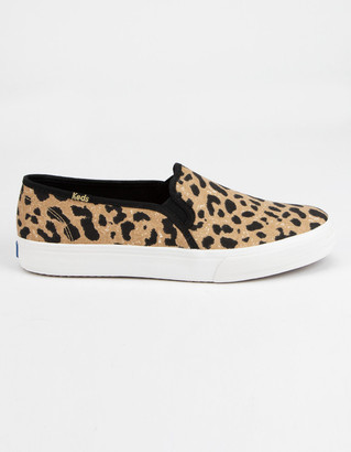 Keds Double Decker Leopard Womens Slip-On Shoes