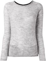 Sun 68 back button fine knit jumper - women - Polyamide/Alpaca/Merino - S