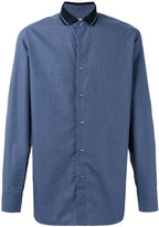 Brioni fine checked shirt